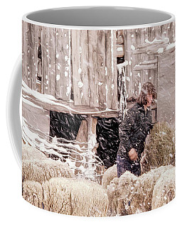 Sheep In Underhill, Vermont. Coffee Mug by George Robinson