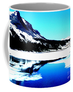 Shiny Snow Magic On Lake Coffee Mug