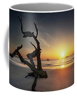Shrimp Boats And Driftwood Coffee Mug