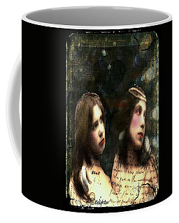 Coffee Mug featuring the digital art Two Sisters by Delight Worthyn