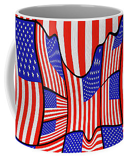 Soft American Flags  Coffee Mug