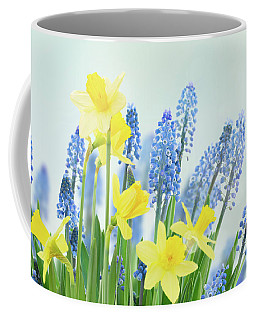Spring Bluebells And Daffodils Coffee Mug