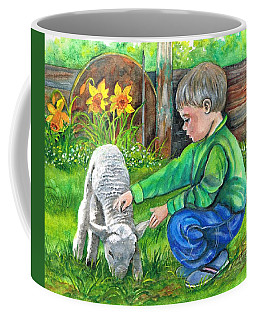 Coffee Mug featuring the painting Spring Has Sprung by Val Stokes