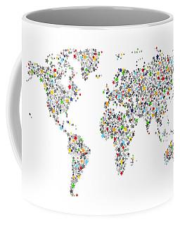 Stars Map Of The World Map Coffee Mug