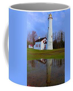 Sturgeon Point Lighthouse Coffee Mug by Michael Rucker