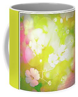 Summer Flowers, Baby's Breath, Digital Art Coffee Mug