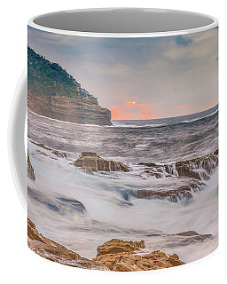 Sunrise Seascape And Headland Coffee Mug