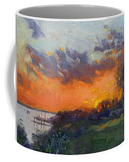 Sunset At Gratwick Waterfront Park Coffee Mug