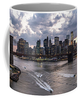 Sunset Over New York City Coffee Mug