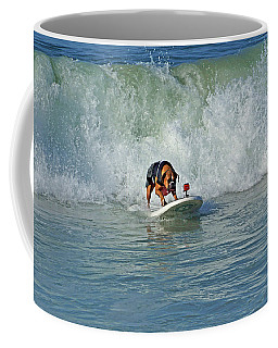 Surfing Dog Coffee Mug by Thanh Thuy Nguyen