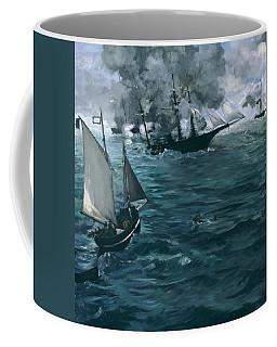 The Battle Of The U.s.s. Kearsarge And The C.s.s. Alabama Coffee Mug