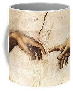 The Creation Of Adam Coffee Mug by Michelangelo