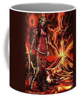 The Goodess Pele Of Hawaii Coffee Mug by James Christopher Hill