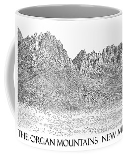 Coffee Mug featuring the painting The Organ Mountains by Jack Pumphrey