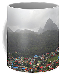 Coffee Mug featuring the photograph The Pilons by Gary Wonning