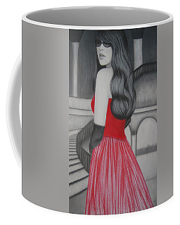 The Red Dress Coffee Mug