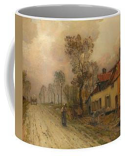 Coffee Mug featuring the painting The Route Nationale At Samer by Jean-Charles Cazin