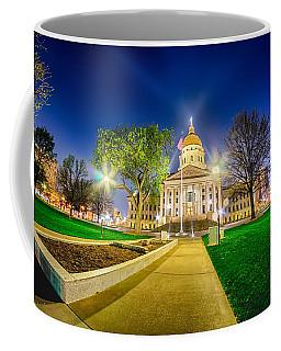 Topeka Kansas Downtown At Night Coffee Mug