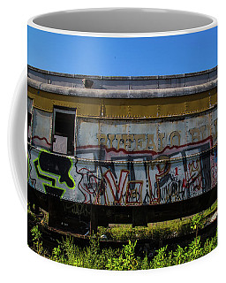Coffee Mug featuring the photograph Train Art by Dart Humeston