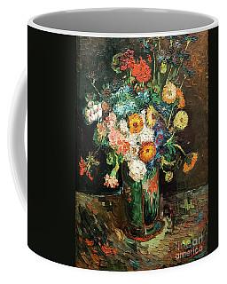 Vase With Zinnias And Geraniums Coffee Mug