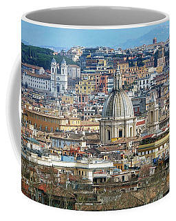 View Of Rome Italy From Atop Gianicolo Hill Coffee Mug