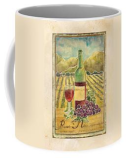 Vineyard Pinot Noir Grapes N Wine - Batik Style Coffee Mug by Audrey Jeanne Roberts