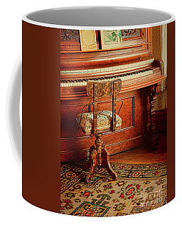 Coffee Mug featuring the photograph Vintage Piano by Jill Battaglia