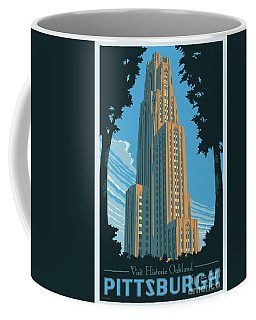 Vintage Style Pittsburgh Travel Poster Coffee Mug