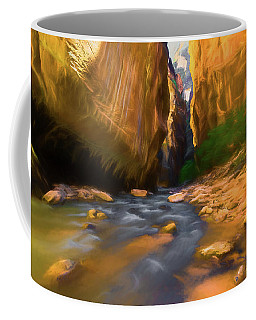 Virgin River - Zion National Park Watercolor Coffee Mug