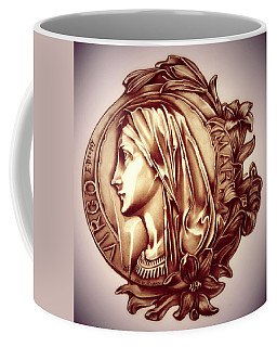 White Lilly Of The Virgin Mary Coffee Mug by Fred Larucci
