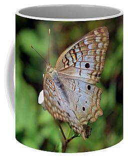 White Peacock Butterfly Coffee Mug