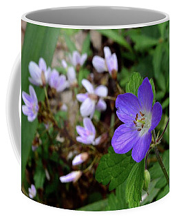 Wild Geranium Coffee Mug by Tim Good