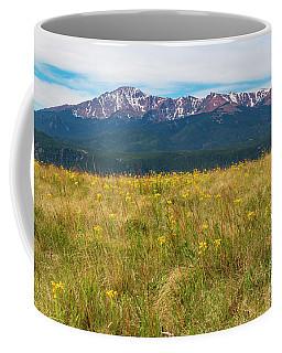 Wildflowers And Pikes Peak Coffee Mug