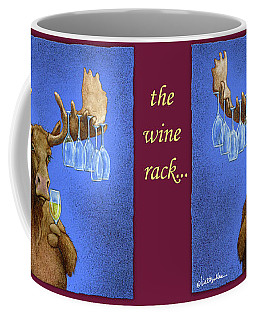 Coffee Mug featuring the painting Wine Rack... by Will Bullas
