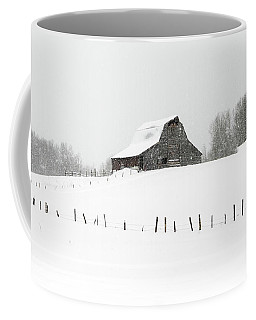 Coffee Mug featuring the photograph Winter Barn by Ronnie and Frances Howard
