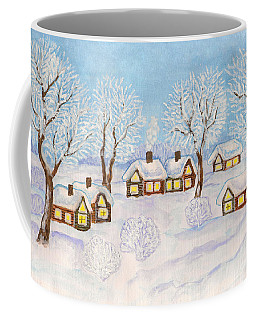 Winter Landscape, Painting Coffee Mug by Irina Afonskaya