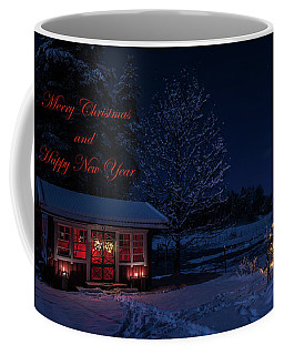 Coffee Mug featuring the photograph Winter Night Greetings In English by Torbjorn Swenelius