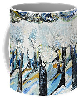 Coffee Mug featuring the painting Winterland by Evelina Popilian