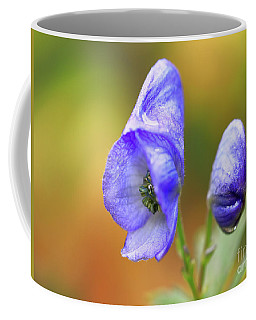 Coffee Mug featuring the photograph Wolf's Bane Flower by Nick Biemans