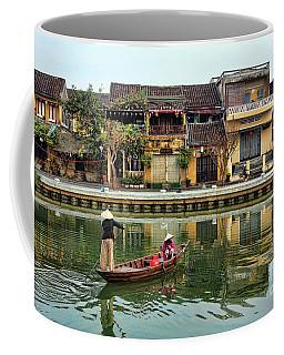 2 Women Boat Hoi An Vn Coffee Mug by Chuck Kuhn