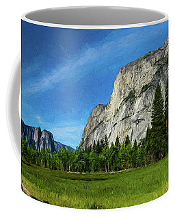 Yosemite Valley Meadow Panorama Coffee Mug