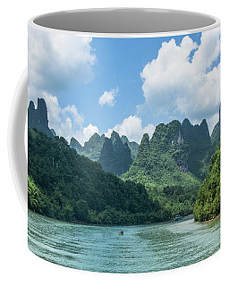 Lijiang River And Karst Mountains Scenery Coffee Mug