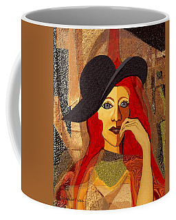 200 - Woman With Black Hat .... Coffee Mug
