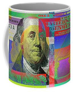2009 Series Pop Art Colorized U. S. One Hundred Dollar Bill No. 1 Coffee Mug