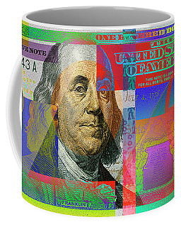 2009 Series Pop Art Colorized U. S. One Hundred Dollar Bill No. 1 Coffee Mug