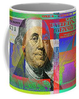 2009 Series Pop Art Colorized U. S. One Hundred Dollar Bill No. 1 Coffee Mug by Serge Averbukh