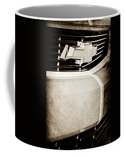 Coffee Mug featuring the photograph 2011 Chevrolet Camaro Grille Emblem -0321s by Jill Reger