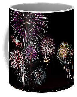 2013 Fireworks Over Alton Coffee Mug by Andrea Silies