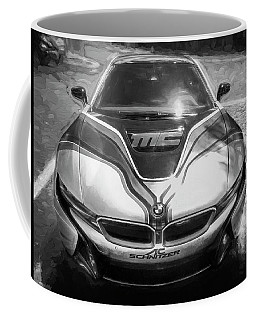2015 Bmw I8 Hybrid Sports Car Bw Coffee Mug by Rich Franco