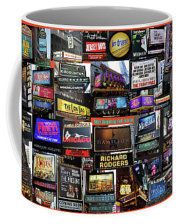 Coffee Mug featuring the photograph 2016 Broadway Fall Collage by Steven Spak